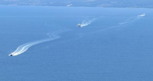 Tracks in the Sea