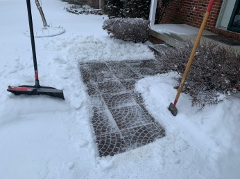 4 Front Walk Ice Clearing
