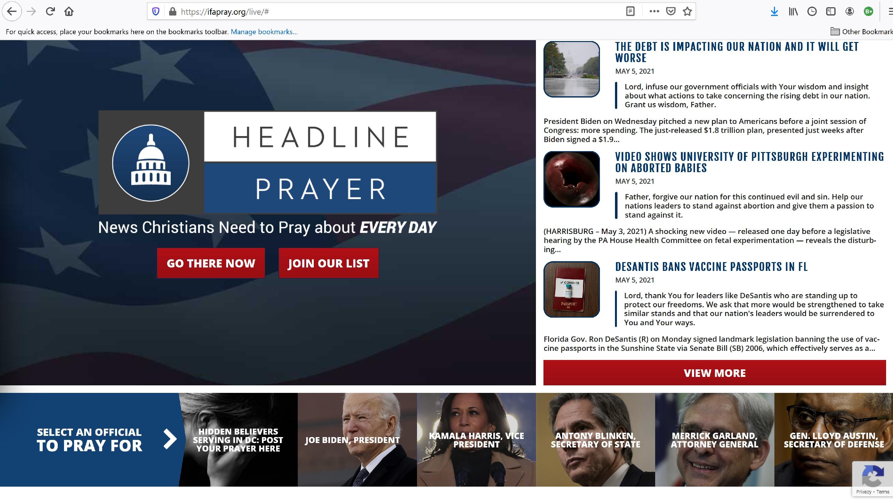 2021-05-05 WW Headline Prayer