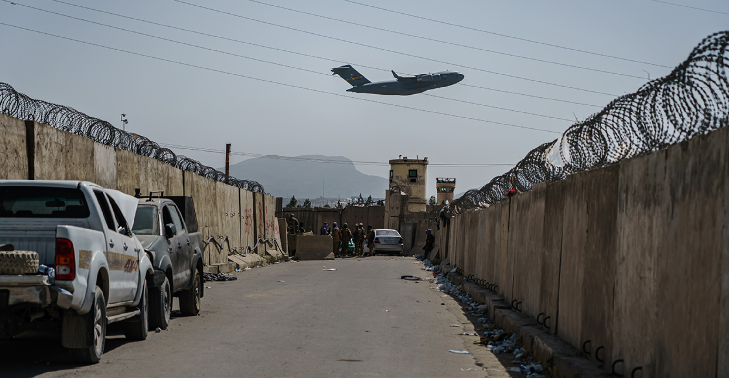 2021-08-31 C17 Globemaster Leaving Kabul International Airport
